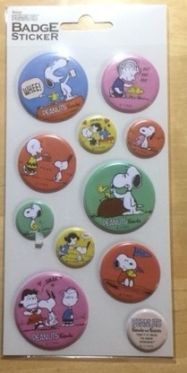 SNOOPY BADGE STICKERS A