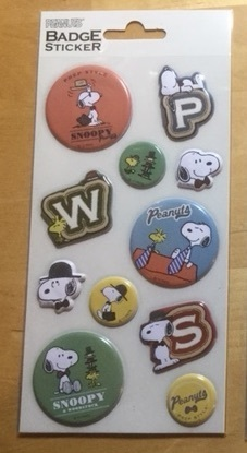 SNOOPY BADGE STICKERS B