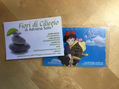KIKI DELIVERY SERVICE TELEPHONE CARD STUDIO GHIBLI